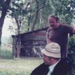 Smalltalk vor der alten Hütte
